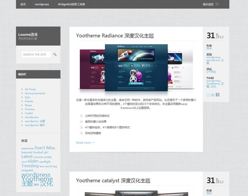 Dispatch商业博客主题中文汉化版 1