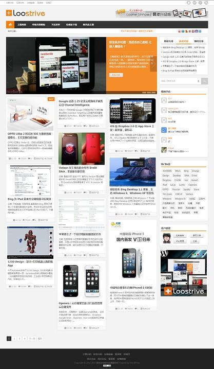 洛米Loostrive原创响应式wordpress杂志中文主题 2
