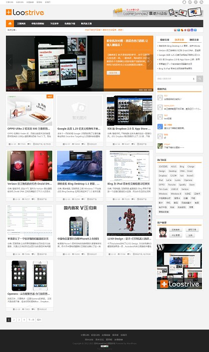 洛米Loostrive原创响应式wordpress杂志中文主题 3