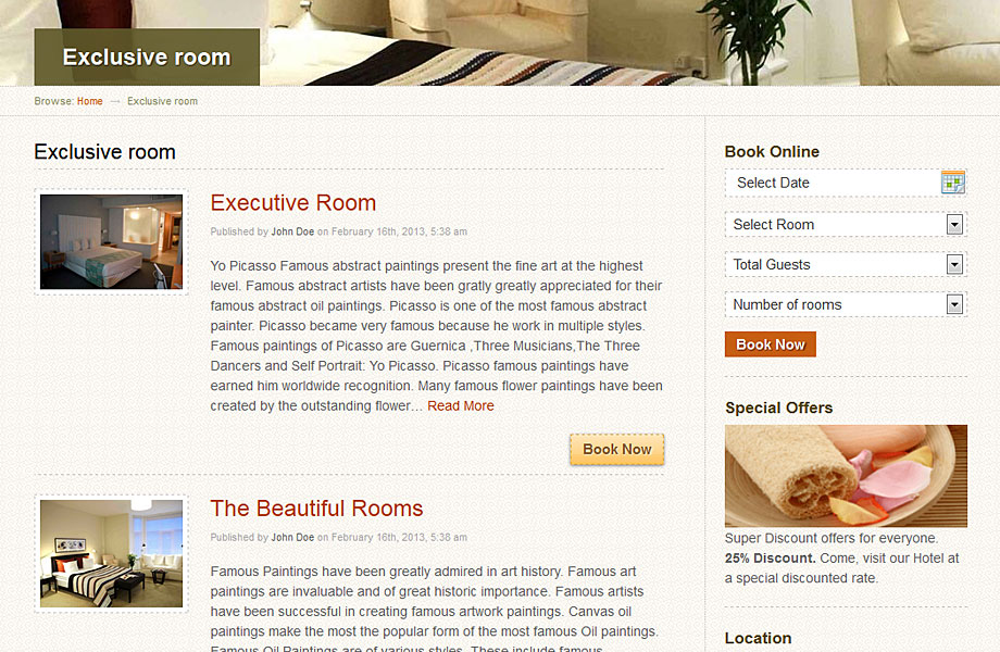 wordpress酒店预定服务主题HotelBooking汉化中文版 1
